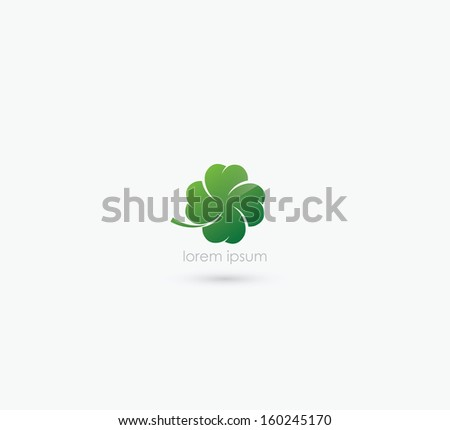Four leaf clover symbol vector illustrator