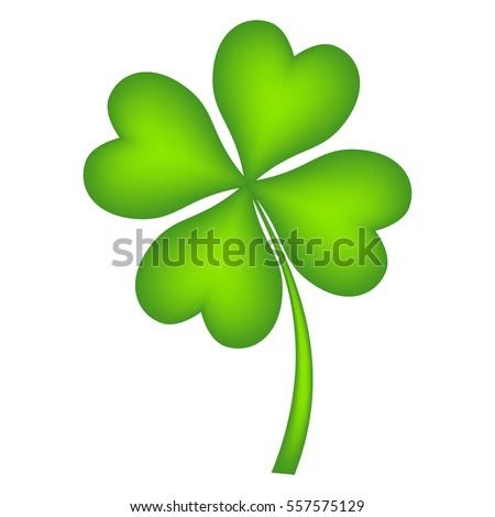 Four leaf clover, vector illustration