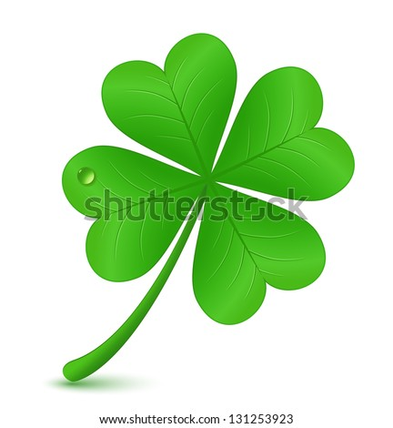 Four leaf clover Vector illustration St Patrick's day symbol