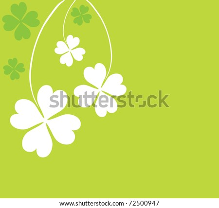 four leaf clovers card for St. Patrick's Day with space for your text