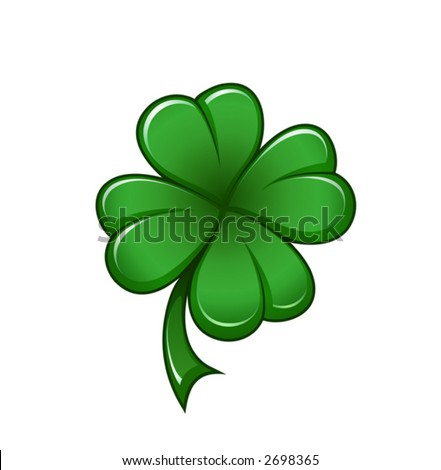 Four leafs clover symbol - detailed vector icon