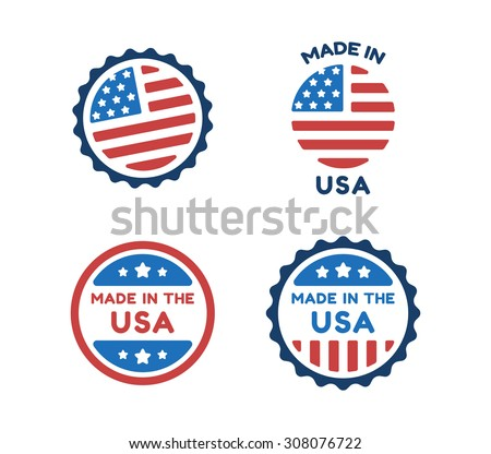 four made in usa labels in