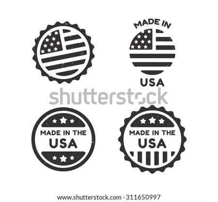 four made in usa vintage labels ...