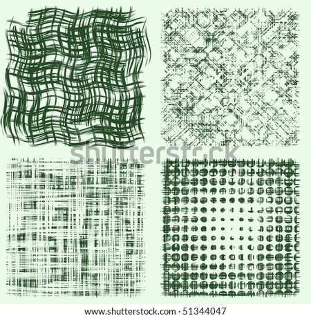 Four messy grunge textures for your design. - stock vector