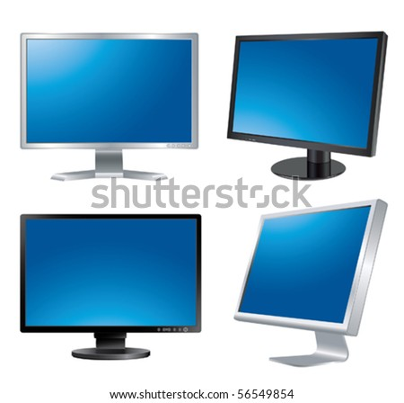 Four monitors. Vector