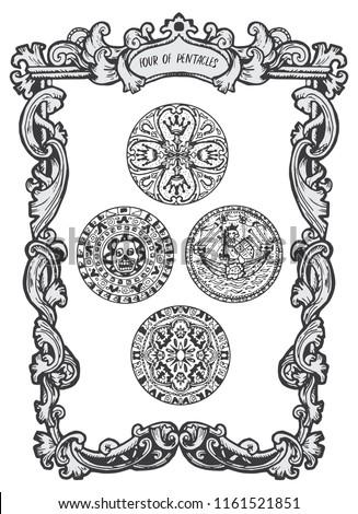 four of pentacles minor arcana