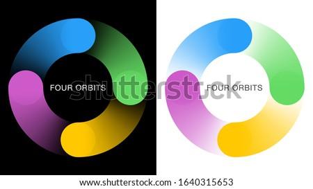 Four orbits. Symbol graphics. Rotating image. Stock photo ©