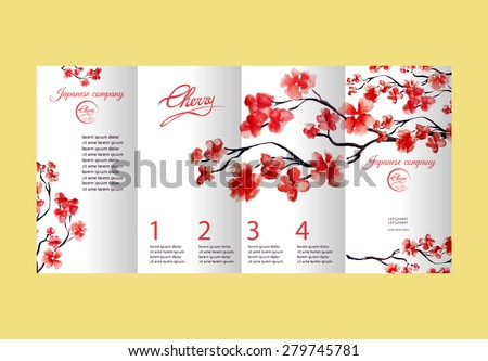 four pages brochure with cherry