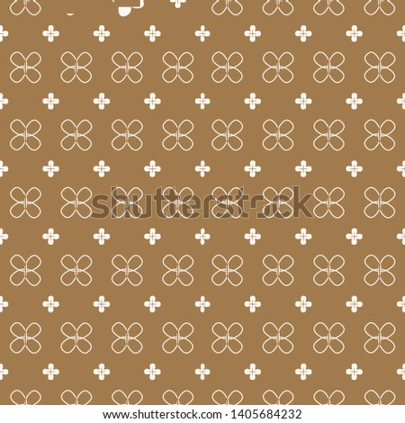Four pettle flower graphic pattern