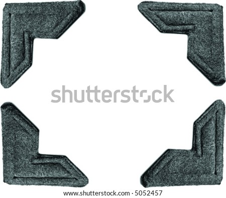 four photo corners isolated on