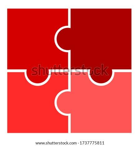 four piece square diagram  red
