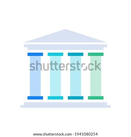 Four pillars diagram. Clipart image isolated on white background Photo stock ©