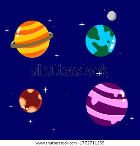 four planets in the milky way