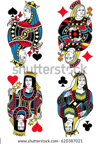 four queens figures inspired by