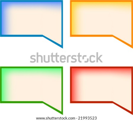Four Rainbow Colored Blank Text Call Out Boxes With Copy