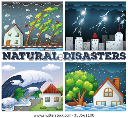 four scenes of natural