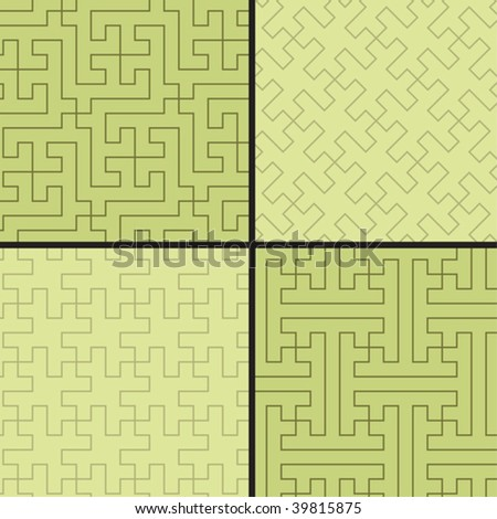 Four seamless geometrical patterns