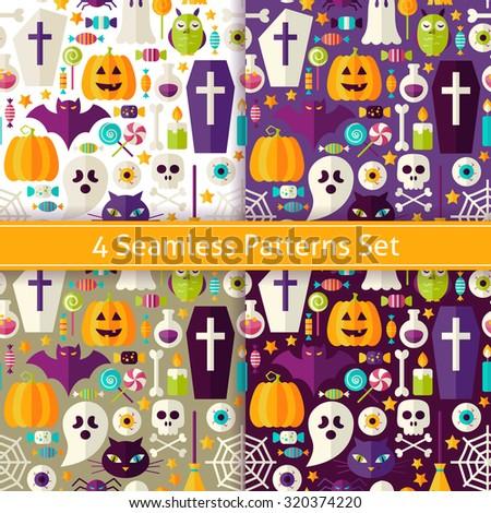 four seamless halloween party
