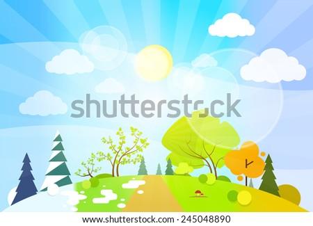 four season concept landscape