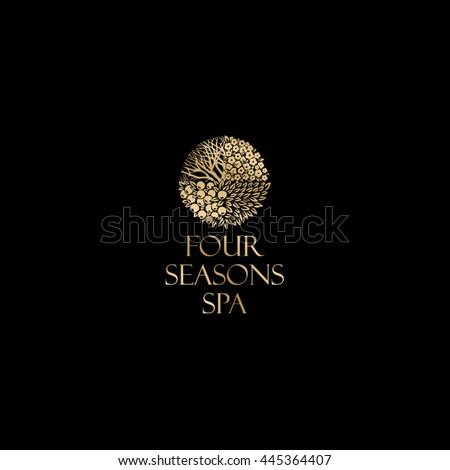 four season logo  spa gold