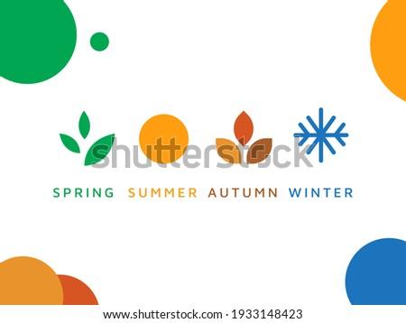four season logo winter spring
