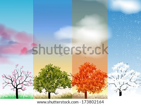 four seasons banners with