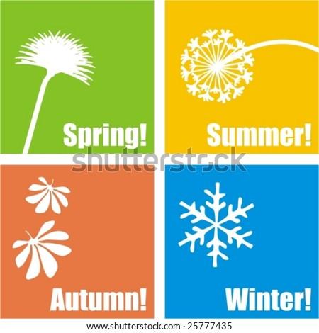 four seasons design   vector