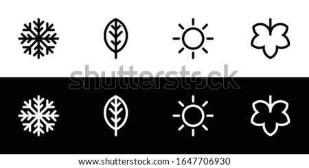 four seasons icon set flat