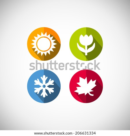 Four seasons icon symbol vector illustration. Weather