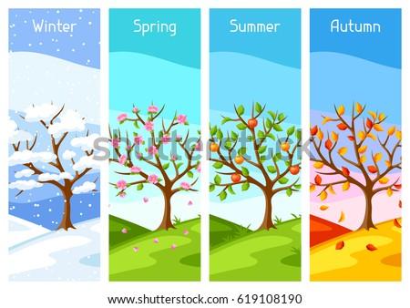 four seasons illustration of