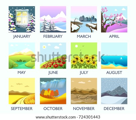 four seasons month nature