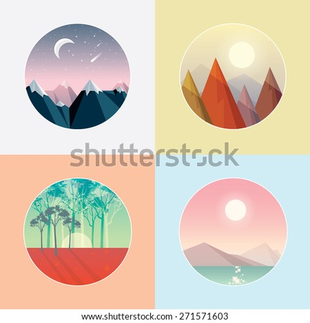 four seasons round landscape