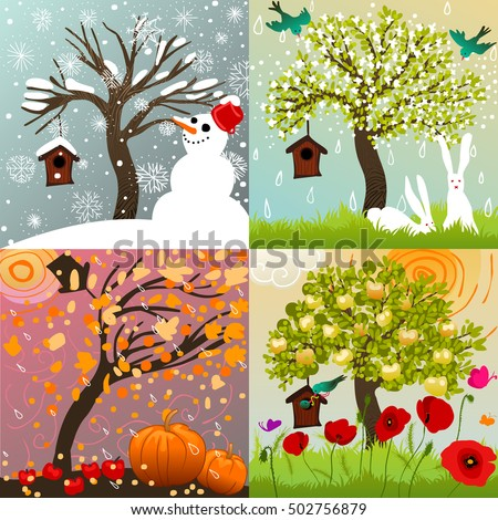Image result for images of the four seasons