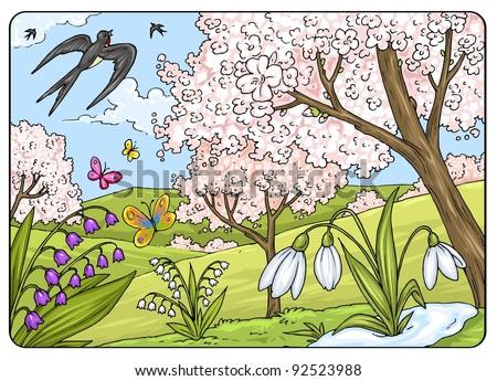 Four Seasons - Sprintime - Spring Landscape