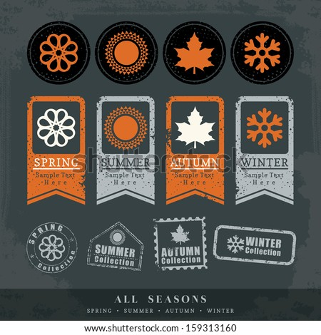 four seasons symbol vector