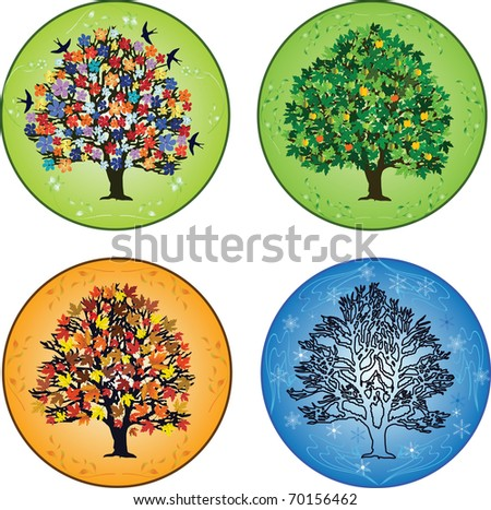Four seasons ? trees in spring, summer, autumn, winter