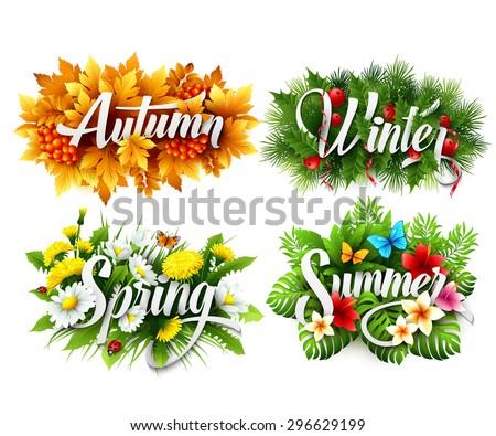 four seasons  typographic