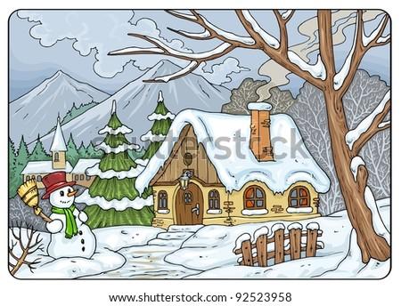 Four Seasons - Winter Landscape