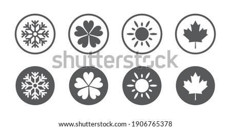 four seasons year icon set