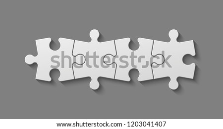 Four sided square puzzle presentation. Abstract puzzle infographic template explanatory text field for business statistics. Vector 4 pieces puzzles illustration. Section four compare service banner