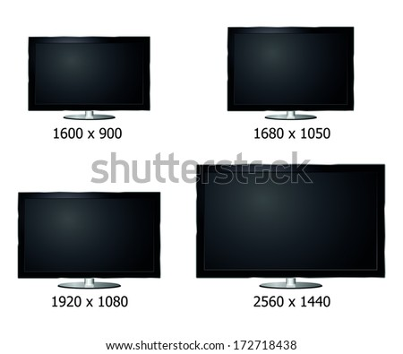 four sizes luxury flat computer