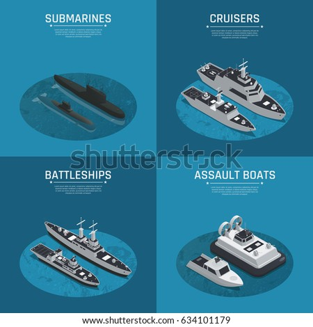 four square military boats