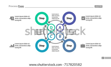 Four Steps Process Slide Template EZ Canvas