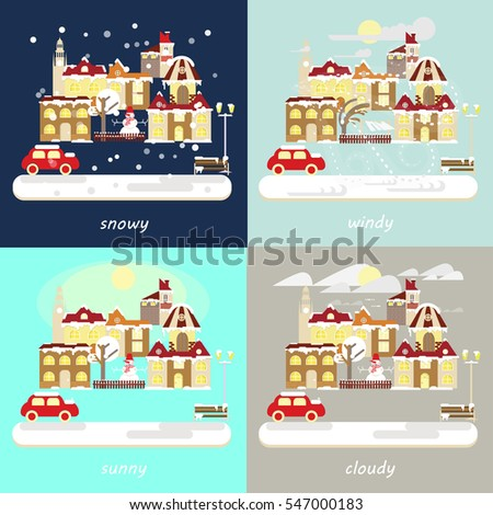 four types of different winter