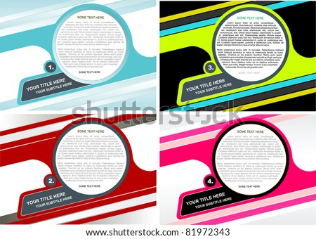 Four Vector Background For Poster, Brochure, Catalog Or Flyer