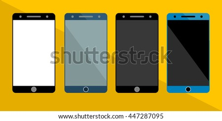 four vector smartphone icons