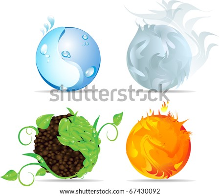 four ying yang elements