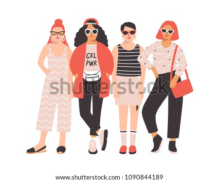 four young women or girls