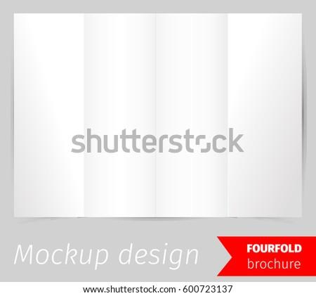 Four Fold Brochure Mockup Design Download Free Vector Art Stock