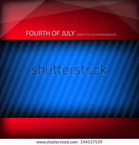 fourth of july background vector independent day of america united state for freedom board for text and message design